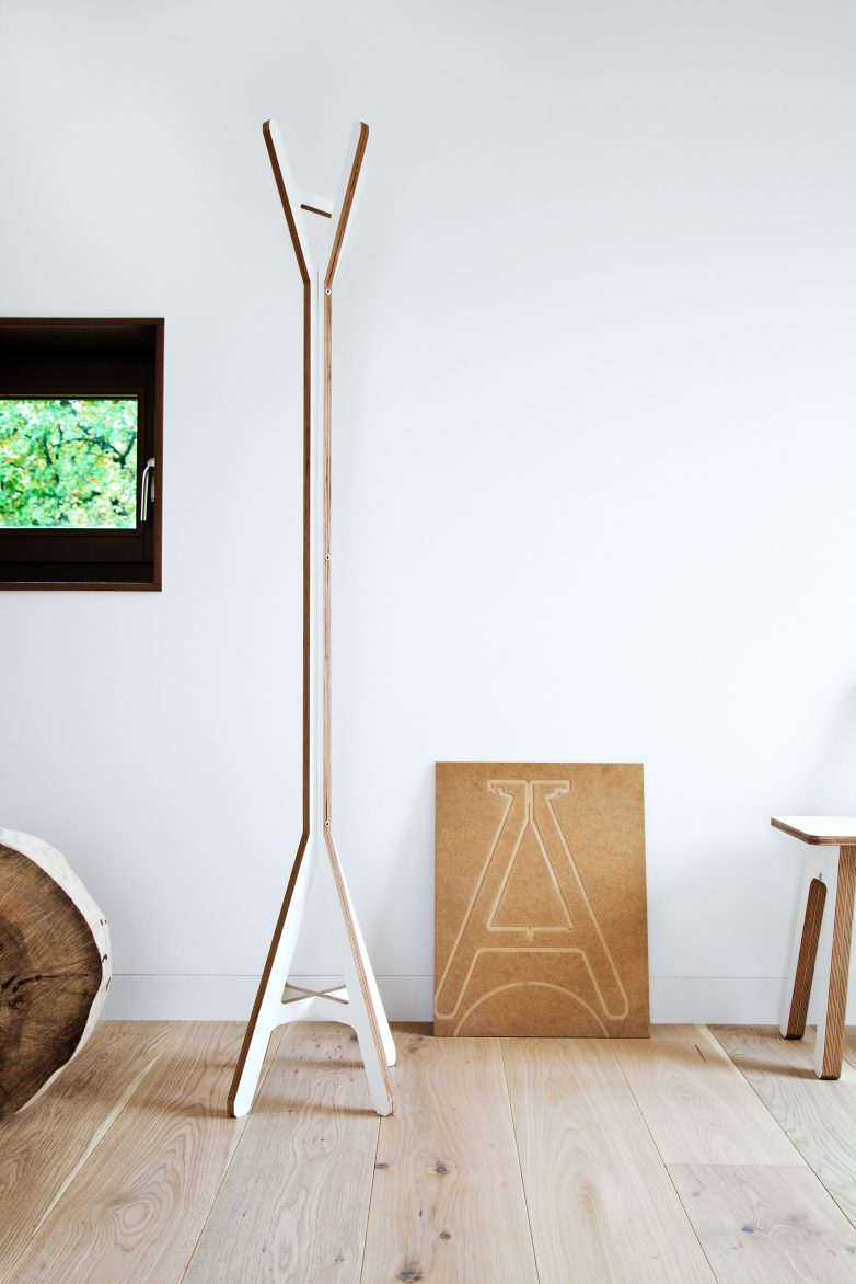 Modern Wood Coat Stand | A Coat | British Design