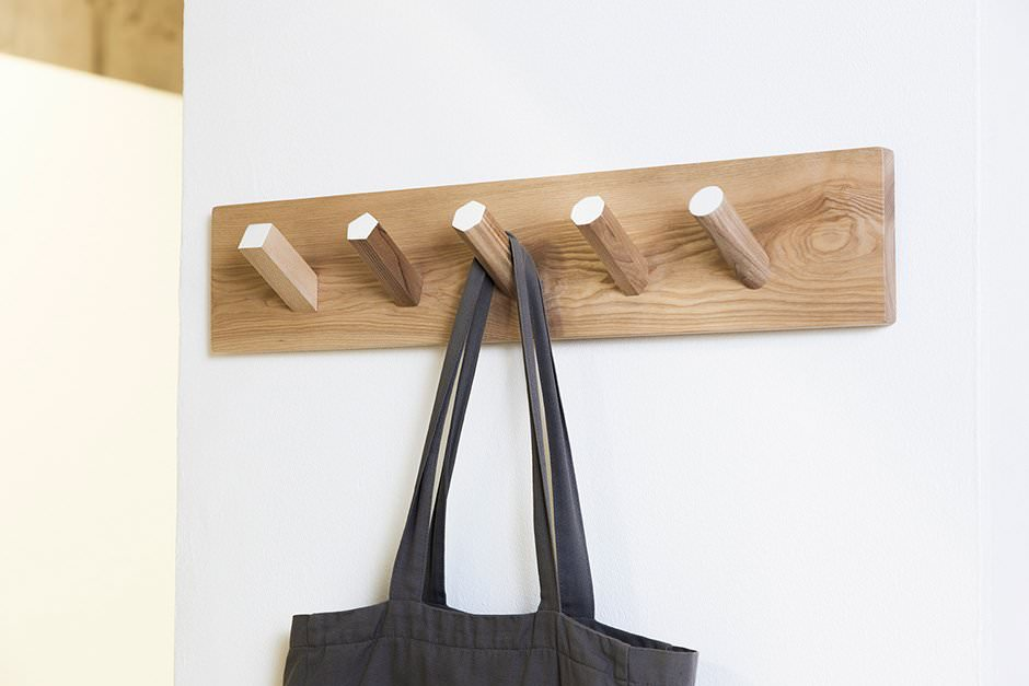 Modern wall coat hooks geo coat rack british design for Contemporary coat hooks