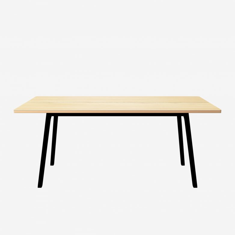 Modern wood table k s dining table british design for Modern oak dining table
