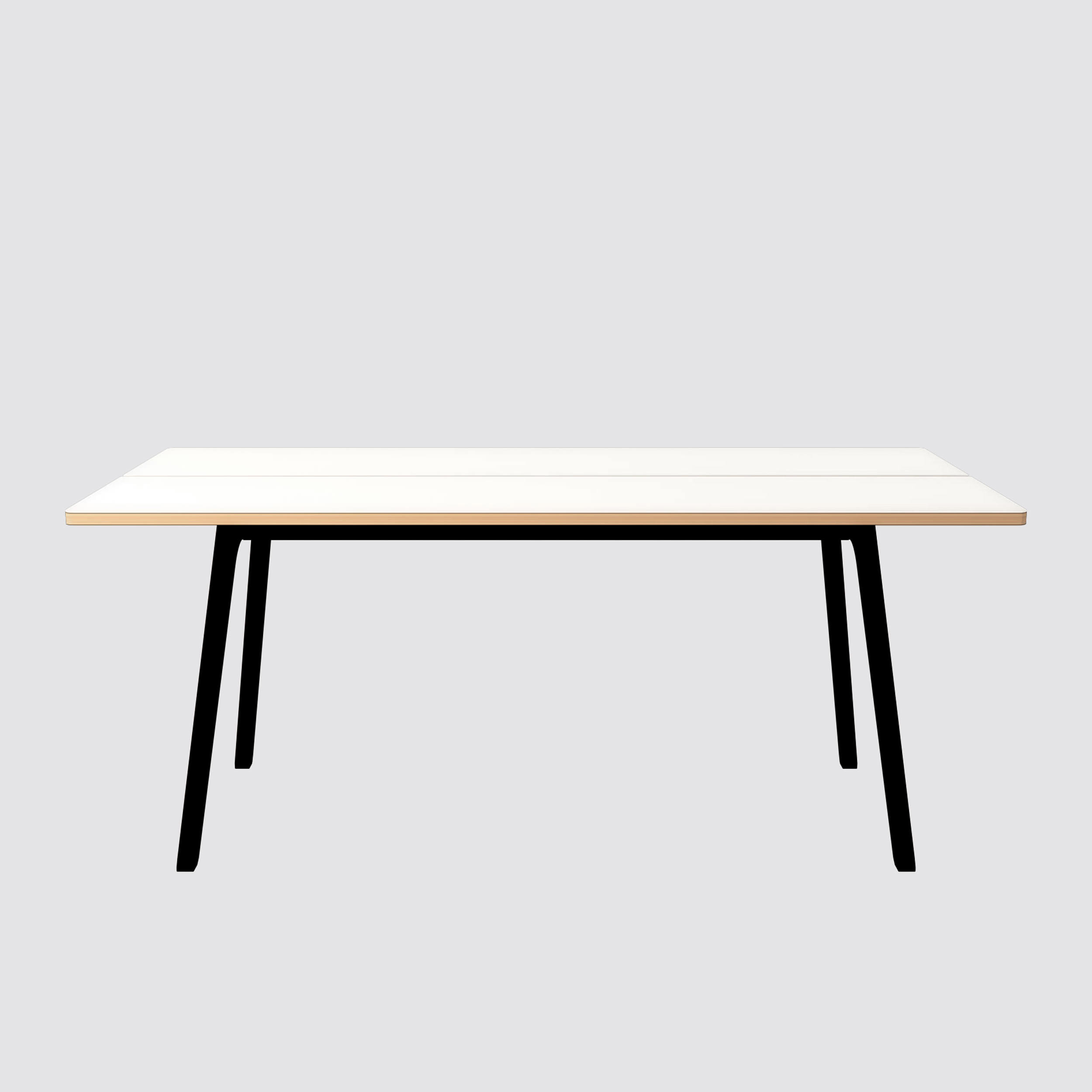Modern wood table k s dining table british design for Modern black dining table